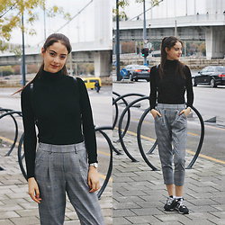 Nora Aradi - Bershka Pants, New Balance Sneakers, Daniel Wellington Watch, H&M Turtle Neck - Basic