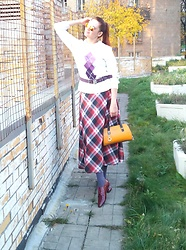 Natalyushka - C&A Sweater, Fiore Tights - Loving checkered