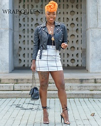 Kelly W -  - Mini Skirt & Leather Jacket Season