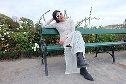 Cassey Cakes - H&M White Lace Dress, Mango Boots - Belvedere Garden