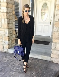Cindy Batchelor -  - Chic Black Jumpsuit and Black Blazer