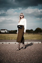 Daniella Robins - Asos Skirt, Sam Edelman Boots - Key Pieces For Autumn: The Belt Bag & Snake Print