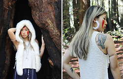 Dana Nguyen - Zara Hat, Asos Statement Necklace, Merona Dress, Romwe Earrings, Asos Arm Cuffs, Pull & Bear Top - Howl