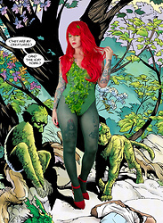 Jessie Bee - Amazon Red Wig, Green Swimsuit, Faux Ivy, Green Tights, Forever 21 Red Heels - Poison Ivy