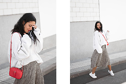 Maray - Zara Bag, Destroy Shoes Sneakers - Red & Leopard