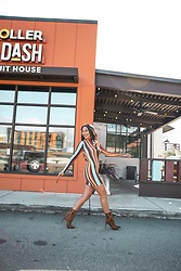 Alexandra Lord - Forever 21 Striped Dress, Forever 21 Leopard Booties - PUMPKIN! 🎃