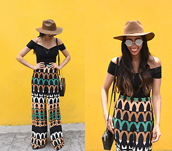 Gabirul C - Zara High Waisted Pants, Nasty Gal Shoulderless Top, Michael Kors Bag - Need more hats like this