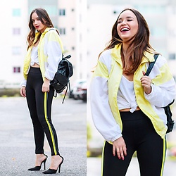 Ana Luísa Braun - Zara Pants, Prada Bag, Gucci Shoes - Neon is back // @analuisabraun