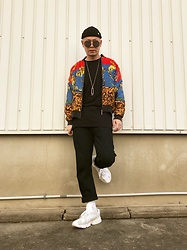★masaki★ - Obey Micro Beanie, Vintage Jacket, Forever 21 Longfit, Neuw Denim Studio Relaxed, Adidas Yung1 - Neo Street