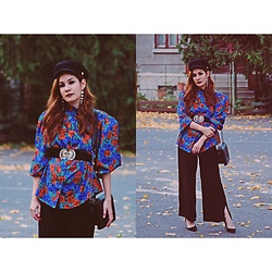 Roxana Ionescu - Vintage Shirt, Mango Shoes, Stradivarius Pants, Pull & Bear Hat, Local Store Bag, Vintage Belt - Once upon a time.