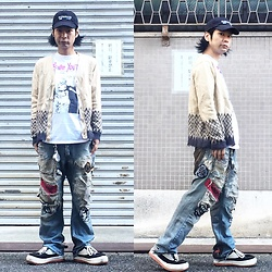 @KiD - (K)Ollaps Shoegaze, Sonic Youth Tops, Vivienne Westwood Cigarettes Case, Diy Jeans, Northwave Espresso - JapaneseTrash456
