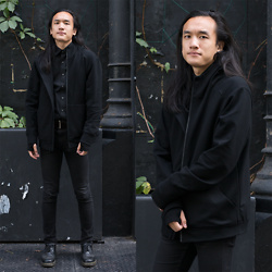 Xanthium James - Uniqlo Dress Shirt, Cheap Monday New Black, Dr. Martens 1461 - Next