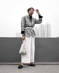Kiko Kim - Stradivarius White Belt, Uniqlo Turtleneck Top - Autumn Meets Summer