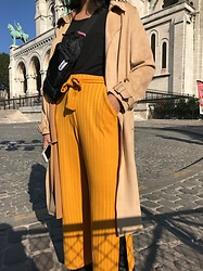 Christinachen - Bershka Pants, Zara Coat, Uniqlo Top - Paris