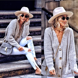 Lauren - Chloe Bag, Shein Sweater, Lack Of Color Hat - Winter neutrals