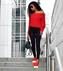 Eunice Addo -  - Red Knit