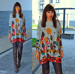 Jointy&Croissanty © - Evatrends Sweater - Sweater dress