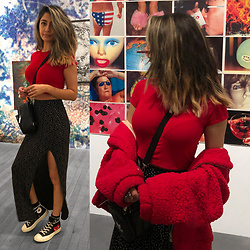 Heba E - Boohoo Skirt, Converse Shoes - You are art