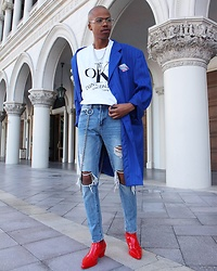 Dominic Grizzelle - Calvin Klein Ck Shirt, Forever 21 Distressed Skinnies - Get out and VOTE