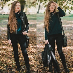 Karolina N. - Zaful Sweater, Zaful Jacket - BOTTLE GREEN