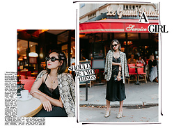 Miu PHAM - Zara Python Printed Blazer, Silky Dress, Gucci Gold Heeled Mocassins, Jacquemus Mini Bag - My classy side