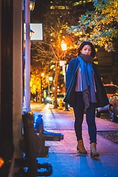 Jenny Hou - Timberland Ankle Boots, Zara Scarf, Zara Bomber - Strolling through the 6