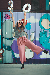 Lyzie McCake - Stradivarius Pink Trouser, Ardene Top - Happiness for 30