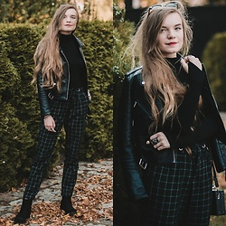 Karolina N. - Zaful Sweater, Zaful Jacket, Bonprix Pants - BLACK AUTUMN