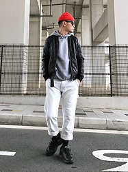 ★masaki★ - Asos Bomber, H&M Hoodie, Carhartt Uk, Nike Air Monarch - CASUAL