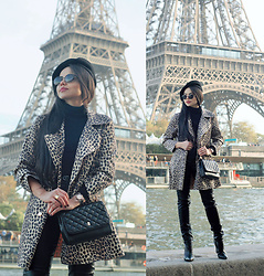 Clara Campelo - Bag, Watch, Public Desire Boots, Zerouv Sunnies, Jacket - Glamorous Leopard