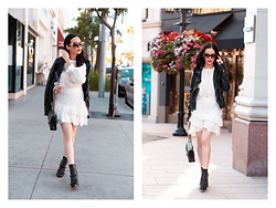 Lisa Valerie Morgan - Tommy Hilfiger Boots, Loveshackfancy Dress, Free People Jacket, Chanel Bag - How to Style a White Dress for Fall
