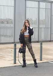 Claudia Villanueva - Bershka Jacket, Shein Top, Bershka Pants, H&M Bag, Basso Boots - The Militar Trend