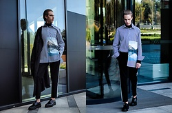 Piotr Czak - Zara Shirt, Zara Sweater, Zara Pants, Zara Shoes, Zara Coat - MODERN OUTFIT