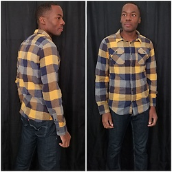 Thomas G - Levi's 511 Strauss & Co 'Skinny', Urban Pipeline Ultimate Flannel - Flannel + Jeans