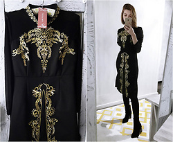 Malinina-ek - - Metisuboutique Dress - Black & gold
