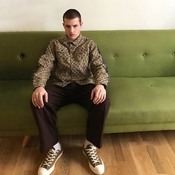 Jesús Lafuente - Gucci Jacket, Converse Shoes - Gucci at home