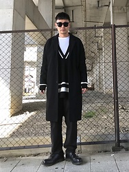 ★masaki★ - Neuwdenim Denim Coat, Zara Oversized Knit, Ch. Trousers, Dr. Martens Made In England - CLEAN