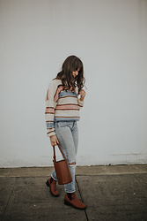 Tonya S. - Balzac Paris Yoni Sweater, Trademark Bucket Bag, Miista Boots - Balzac Paris Sweater