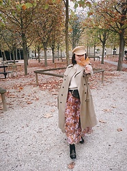 Joyce Wang - H&M Maxi Skirt, Monki Trench Coat - Here, have a piece of autumn.