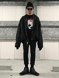 ★masaki★ - Rothco 8xl Bomber, Alice Grass 2xl Tee, R13 Denim Cropped Skinny, Vans Punk - Over & Over