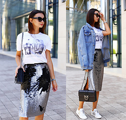 Anna Mour ♥ -  - Double-side sequin skirt