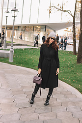 Anya Prosto - La Redoute Coat, New Look Truoser, Ray Ban Sunglass, Asos Boots - Back in Black