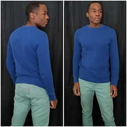 Thomas G - Urban Pipeline Longsleeve, Levi's 510 Strauss & Co - Blue Shirt w/ Mint Jeans