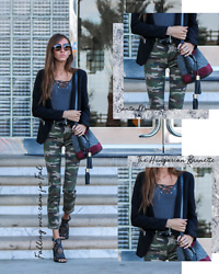 Jenny Mehlmann - Forever 21 Camo Pants, See By Chloé Bucket Bag, Guess Cutout Sandals - CAMO CHIC // thehungarianbrunette.com