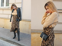 Sabina S. -  - LEOPRINT ON MY SKIRT / NA-KD LOOK