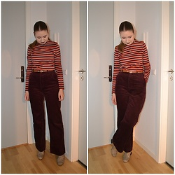 Mucha Lucha - Monki Top, H&M Trousers, Monki Boots - Very autumnal
