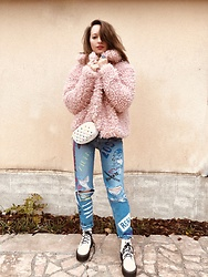 Marine Guillemette -  - Pink Teddy Coat !