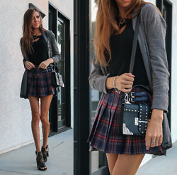 Jenny Mehlmann - Shein Cutout Top, Forever 21 Plaid Skirt, Guess Cutout Sandals - SCHOOL'S OUT FOREVER // thehungarianbrunette.com