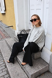 Anna Borisovna - Céline Sunglasses, H&M Sweater, H&M Pants, Mango Shoes, Céline Bag - The Grey Sweater