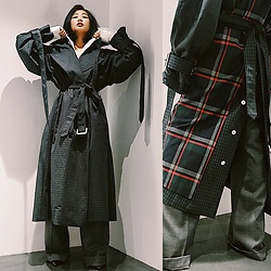Dawn Kuo - Irene Double Face Trench, Irene Trouser - Double Checked🖤